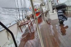 Storm op de Barentszee